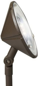 Kichler Lighting 15861AZT LED Landscape Wall Washer with High/Low Setting, Textured Architectural Bronze